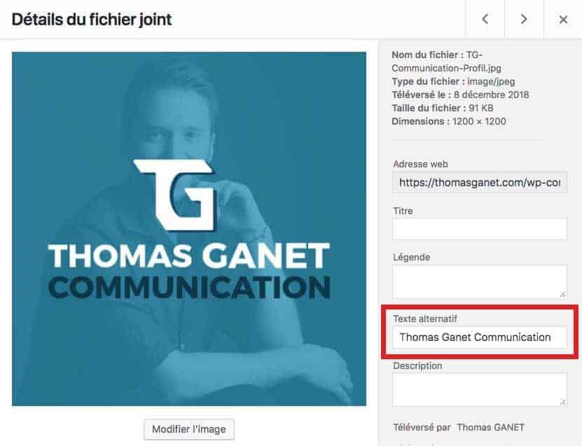 Texte alternatif thomas ganet communication